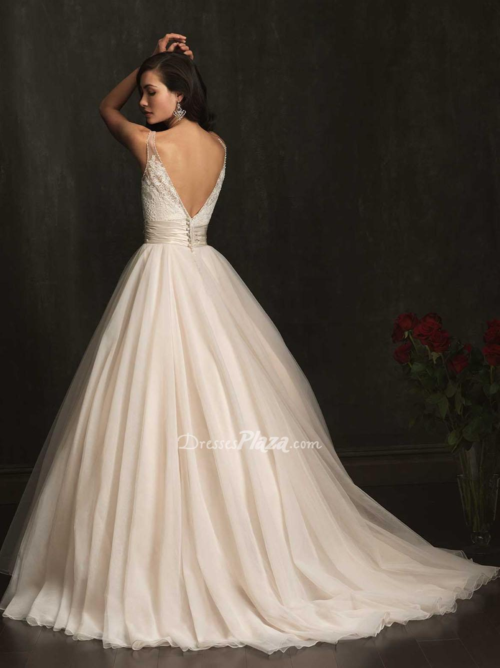 Hot V-neck Wedding Dresses – Topbridal