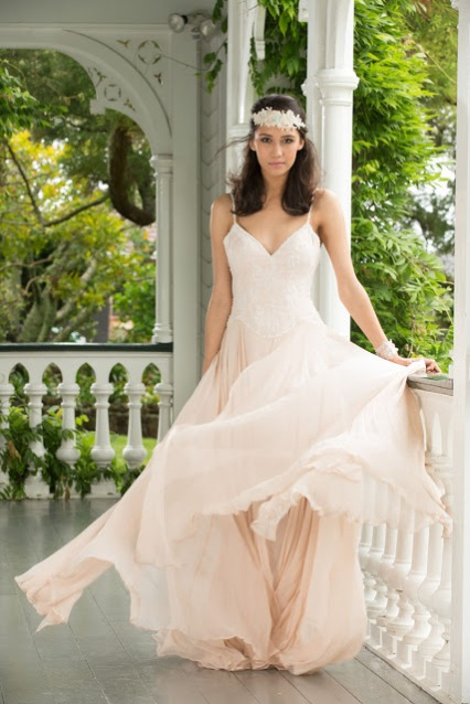 Simple Wedding Dress Design With Ruched Bodice Which Double Spaghetti Straps This Elegant Sheath Satin Skirt Open Slit On The Side Make It Easier To